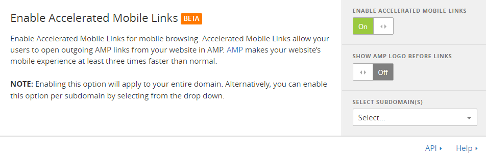 cloudflare links AMP