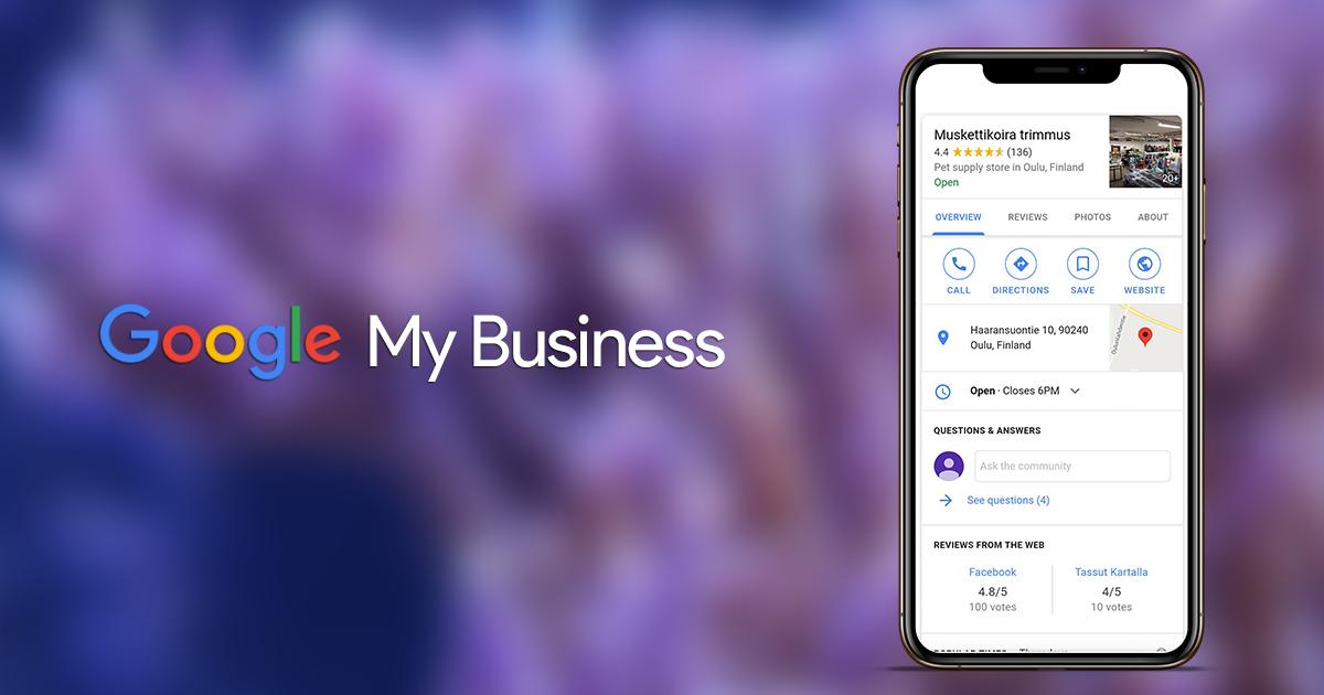 Tavoita enemmän paikallisia asiakkaita Google My Business:n avulla