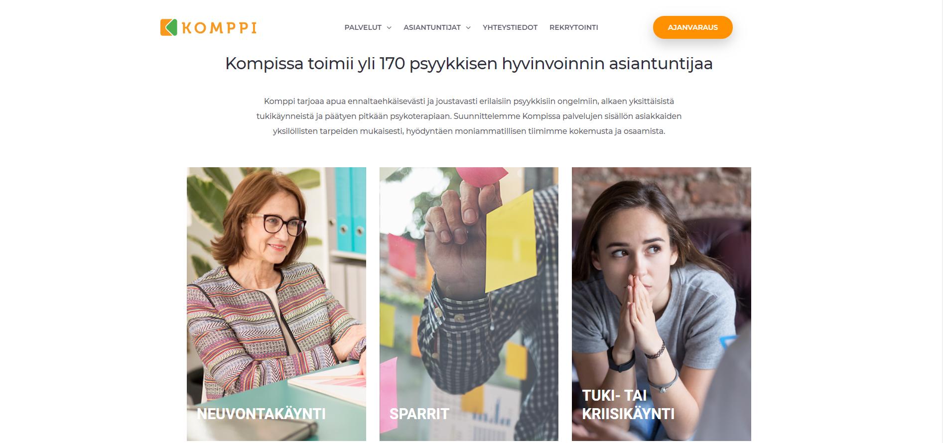 Komppi.net palvelunostot - neuvontakäynti, sparrit sekä tuki- tai kriisikäynti